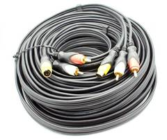 "50' S-Video ""Dubbing"" Cable w/ RCA Audio"