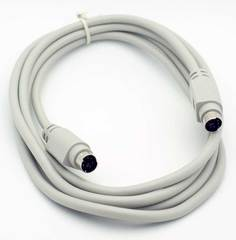 6' PS/2 (6 Pin Mini-Din) Male - Male Cable