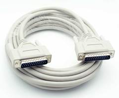 25' 25 Pin (DB25) Serial Male - Male Cable