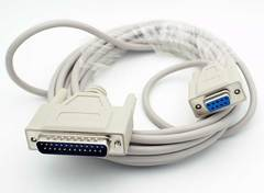 10' 9 Pin (DB9) Female - 25 Pin (DB25) Male Serial Cable