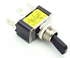 SPST Toggle Switch Vibration Resistant w/Green LED 30A
