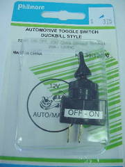 SPST Toggle Switch Duckbill Handle  20A