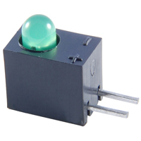 NTE30015 - Green LED - T-1 - Right-Angle