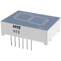 NTE3080 - 7-Segment LED Display, Red - 0.80""