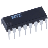 NTE4076B - IC-CMOS Quad D Register w/3-State Outputs