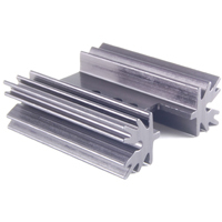 "TO220 Extruded Aluminum Heat Sink 1.5"" x .5"" - NTE498"