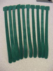 "13"" Velcro Cable Tie QTY: 10 Green"