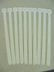 "13"" Velcro Cable Tie QTY: 10 White"
