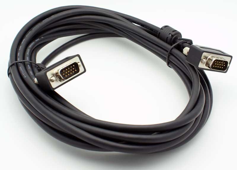 15\' Ultra-Thin VGA Male - Male Cable - Vetco Electronics