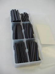 "158 Piece Heat Shrink Assortment 2.5"" Black"