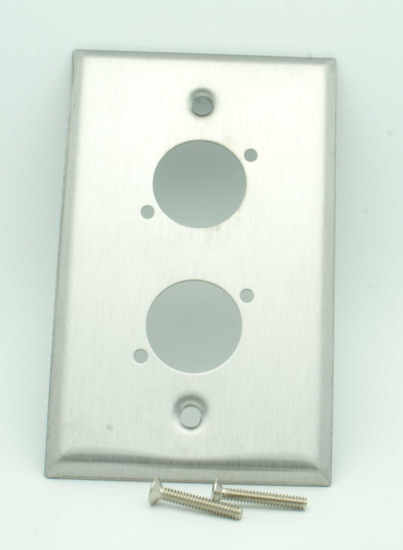Blank Switch Plate Simple Dual Xlr Blank Wall Plate Stainless  Vetco Electronics Design Inspiration