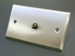 3.5MM Stereo Stainless Steel Wall Plate