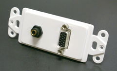 VGA + 3.5MM Stereo Decora Wall Plate