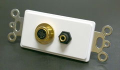 S-Video + 3.5MM Stereo Decora Wall Plate