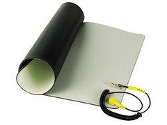 "Anti-Static Mat with Ground Cable 11.8"" x 22"""