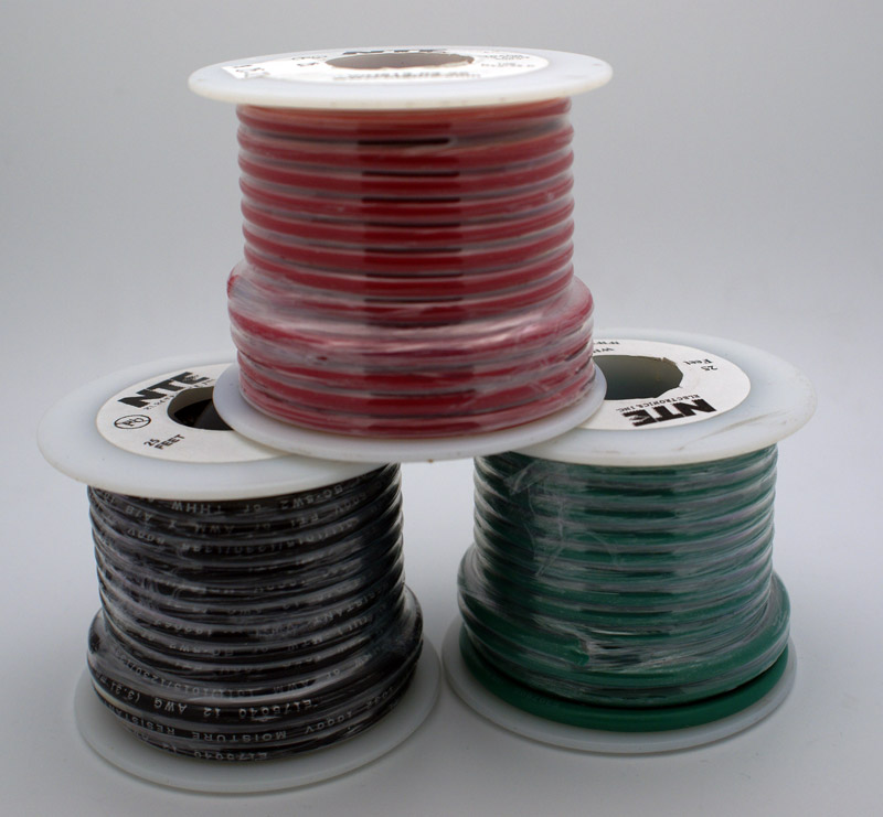 12 AWG Stranded Single Conductor Hookup Wire - 25\' - Vetco Electronics