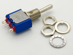 SPDT Miniature Toggle Switch On-Off-On 6A
