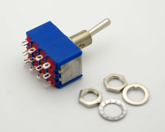 4PDT Miniature Toggle Switch On-On 6A