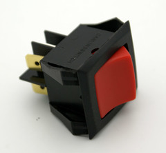 DPST SnapIn Illuminated Rocker Switch On-Off 20A 125VAC Neon Red