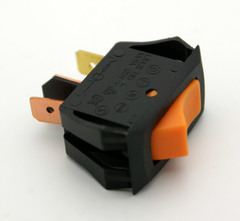 SPST Snap-In Illuminated Rocker Switch On-Off 16A 125VAC Orange