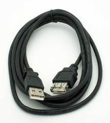 6' USB 2.0 Extension Cable Black
