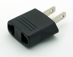 Foreign Plug to US Outlet Adapter (Ungrounded)