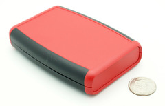 117 x 79 x 24MM ABS Soft Sided Hand Held Case Red