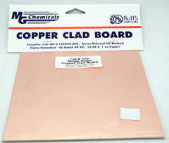 "6"" x 6"" Single Sided Copper Clad PC Board"