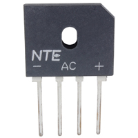 200 Volt 8A Bridge Rectifier Single Phase 4-Pin SIP - NTE5300