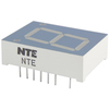 NTE3080-Y - 7-Segment LED Display, Yellow - 0.80""