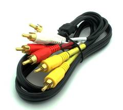 3' 3 RCA Composite Video + Stereo Audio Cable - Black