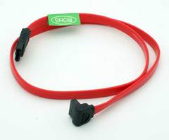 "18"" Right Angle One End SATA Serial ATA Cable"