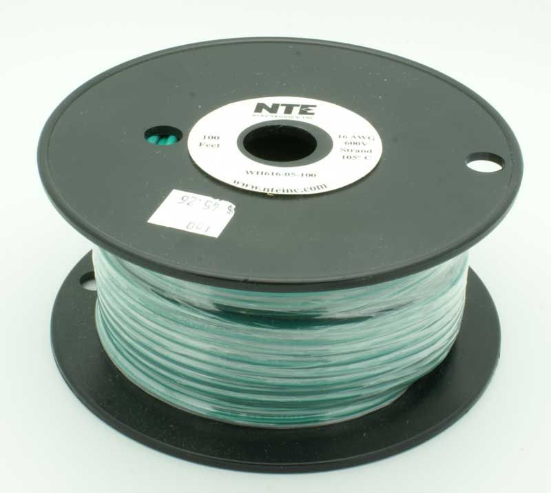 16 AWG Stranded Single Conductor Hookup Wire - 100\' - Vetco Electronics