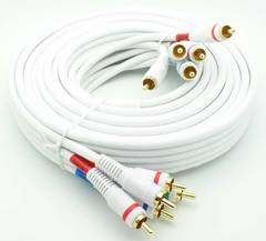12' Component Video Cable w/ Stereo Audio - White