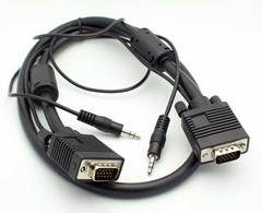 3' VGA Male - Male w/3.5mm Stereo Audio Cable