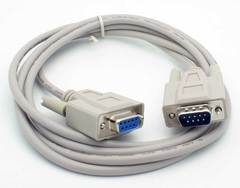 10' Null Modem 9 Pin (DB9) Serial Male - Female Cable