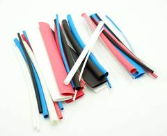 "40 Piece Heatshrink Tubing Assortment - 4.5"" (5 Colors)"