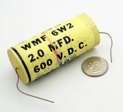 film capacitor 2 μF ±10% 600 volts