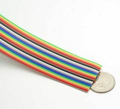 "25 Conductor .05"" Pitch 28 AWG Rainbow Ribbon Cable"
