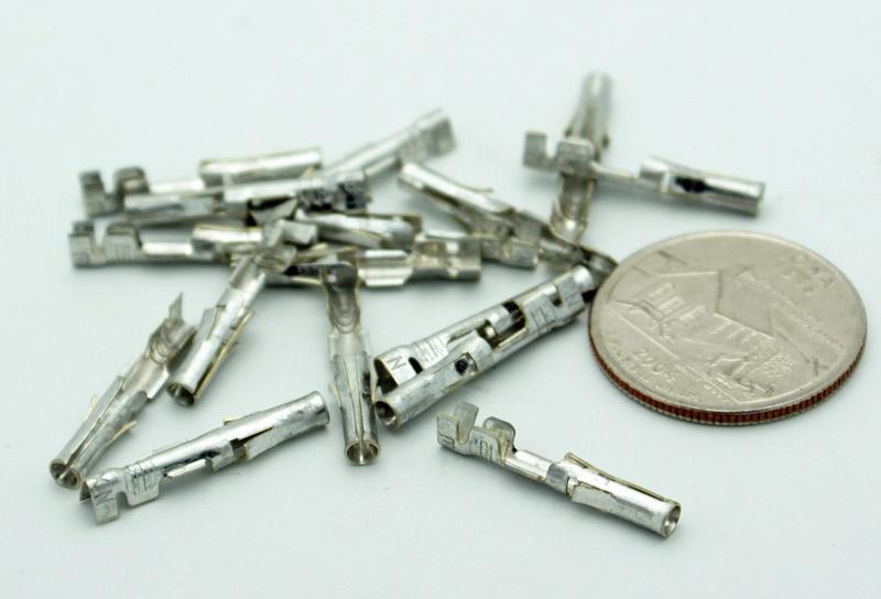 Pack of 100 .093 inch Female Molex 18-22 AWG Crimp Pins for Arcade Pinball