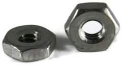 hex nut, 6-32, small-pattern, stainless steel