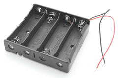 4 x 18650 Battery Holder w/ Leads