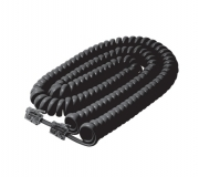 12' Coiled Handset Cord -- Black