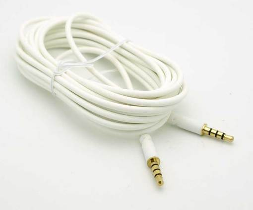 4 conductor 3 5mm male-male cable - white  $12 99