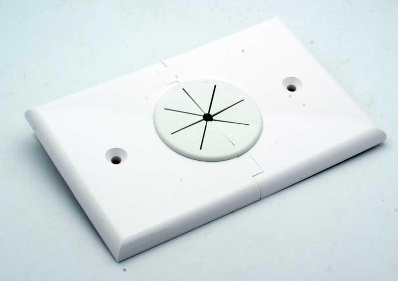 Single Gang Bulk Cable Split Apart Wall Plate w/Grommet - Vetco ...