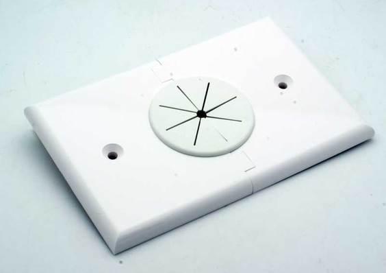 Pleasant Single Gang Bulk Cable Split Apart Wall Plate W Grommet Wiring Database Gramgelartorg