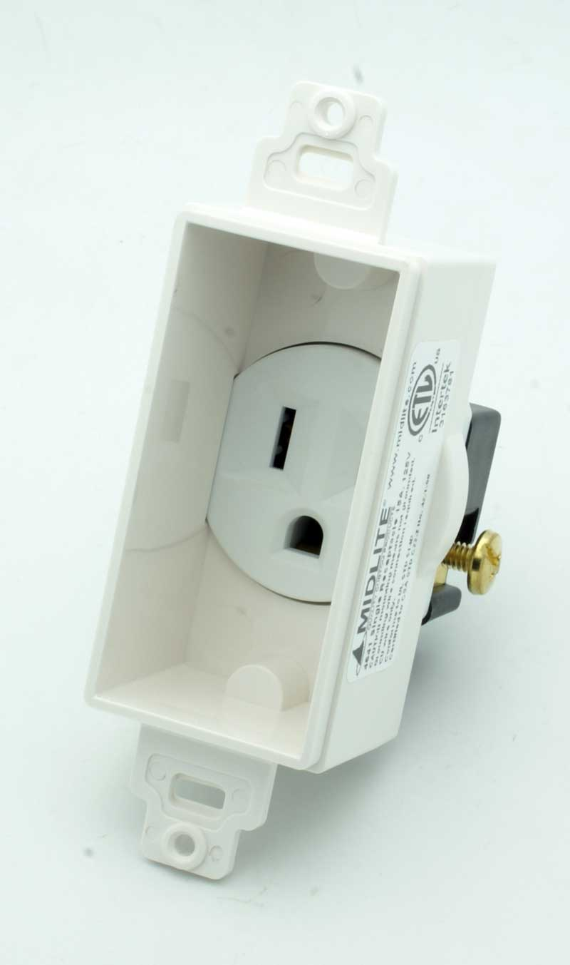 Recessed AC Receptacle Decora Wall Plate - Vetco Electronics