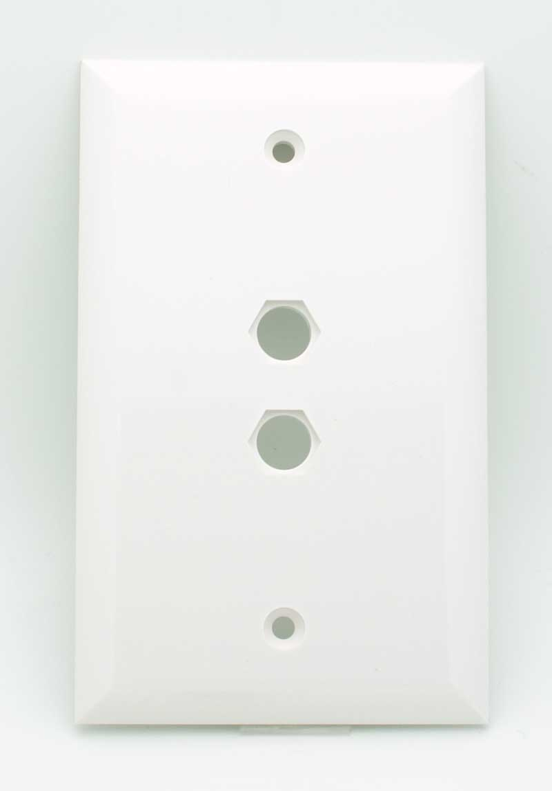 Blank Switch Plate Prepossessing 2 Hole Blank Wall Plate  White  Vetco Electronics Decorating Design