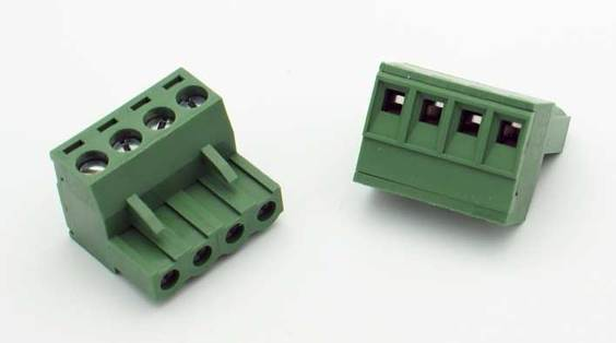 4 Position Phoenix Connector Plug - (12-22AWG Wire / 15A)