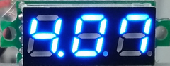LED Mini Volt Meter (Blue 3.3 to 30 VDC 2 wire)